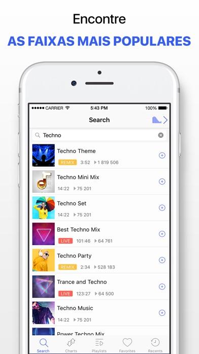 Screenshot for Leitor de música sem limites in Brazil App Store