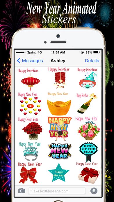 New year Animated Sticker 2018 screenshot three