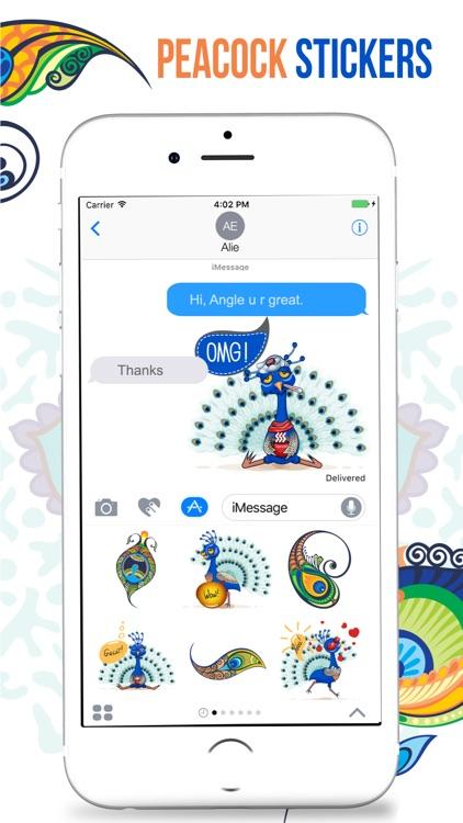Peacock Stickers screenshot-4
