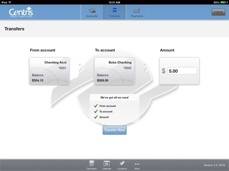 Centris Mobile Banking for iPad screenshot-3