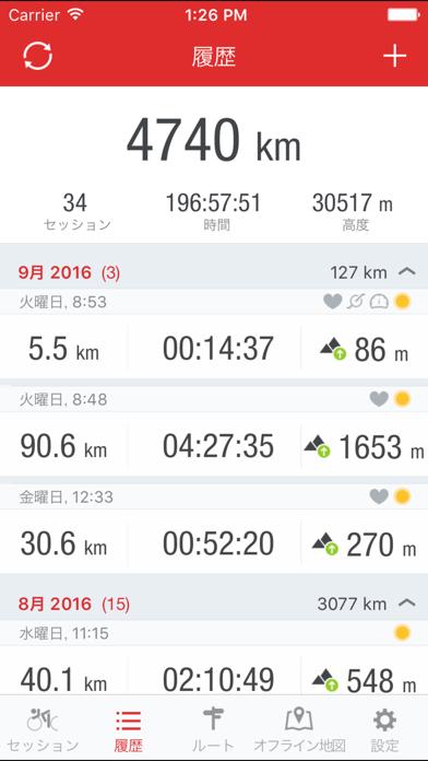 Runtastic ロードバイク記録サイコ... screenshot1