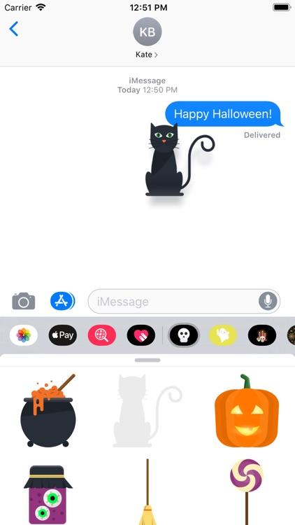 Minimal Halloween Stickers screenshot-3
