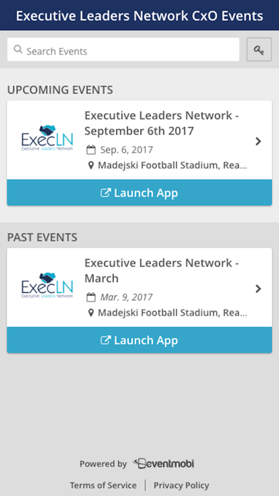 ExecLN Event screenshot one