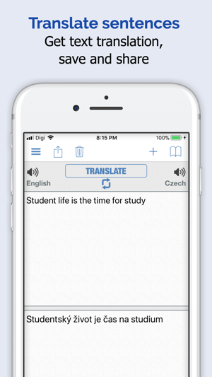 Czech Dictionary Elite 4 Translator To Learn English