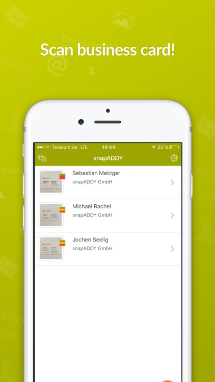 snapADDY Business Card Scanner