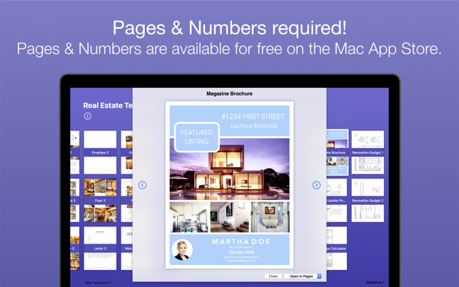‎RealEstate Templates for Pages