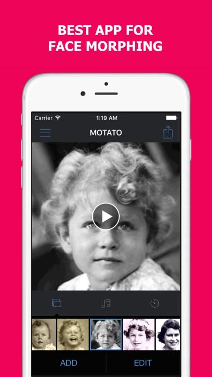 Motato - Face Morph Video screenshot-0