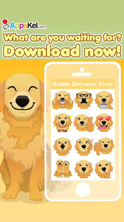 Golden Retriever Emoji Pro screenshot-3