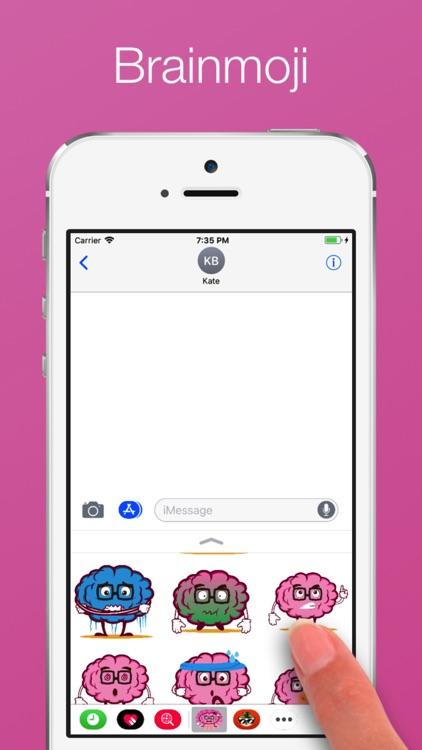 Brain emoji Stickers screenshot-3