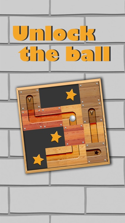 Ball rolls in labyrinth - Unblock & slide puzzle