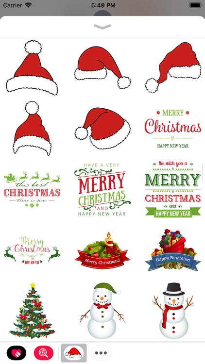 Christmas Stickers with Emojis
