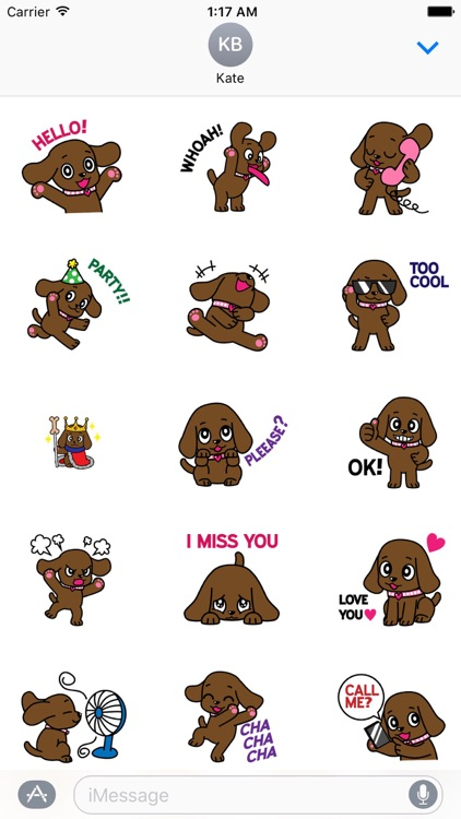 Animated Lovely Dog Sticker