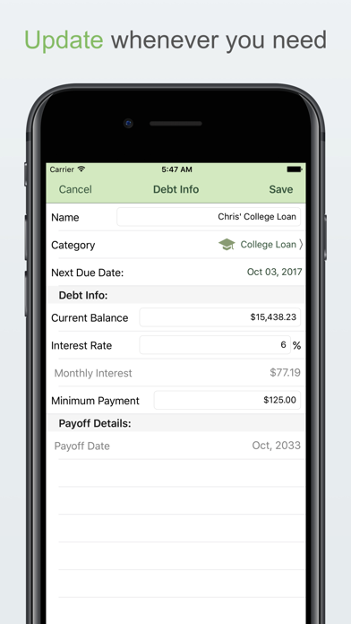 Debt Freedom! screenshot two