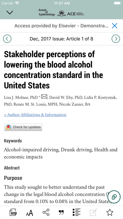Annals of Epidemiology screenshot-3