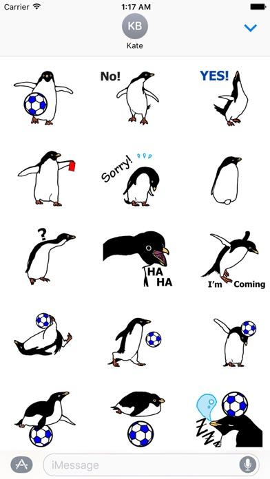 Animated Penguin Play Soccer screenshot 1