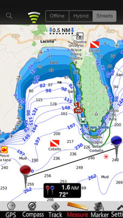 Screenshot of Isola d'Elba GPS Carta Nautica3