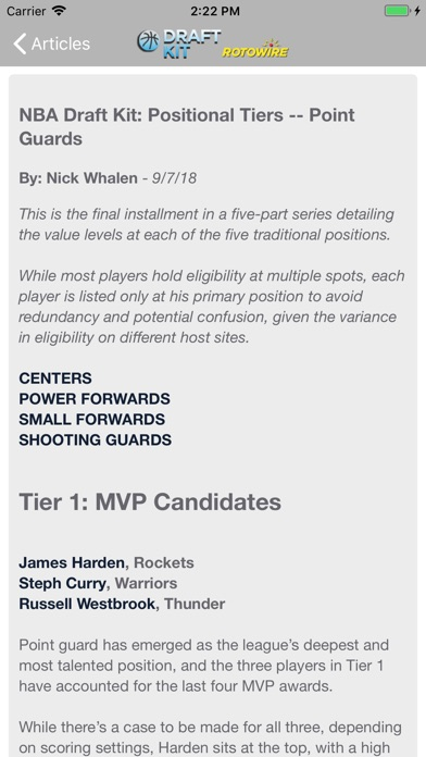 Fantasy Basketball Draft '18 screenshot 2