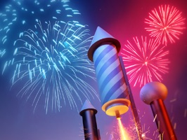 Animated Fireworks Stickers