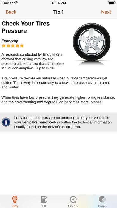 Fuel Saver LITE Screenshot on iOS