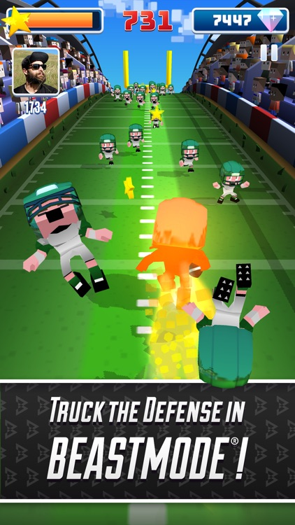 Marshawn Lynch Blocky Football screenshot-3
