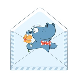 Cute Hippo Stickers