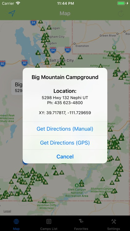 Utah – Camping & RV spots screenshot-2