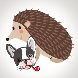 Animated Dog & Hedgehog