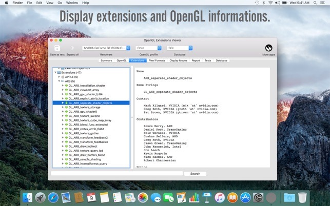 OpenGL Extensions Viewer on the Mac App Store