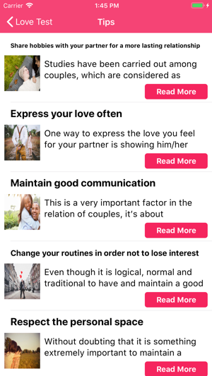 Love test compatibility on the App Store