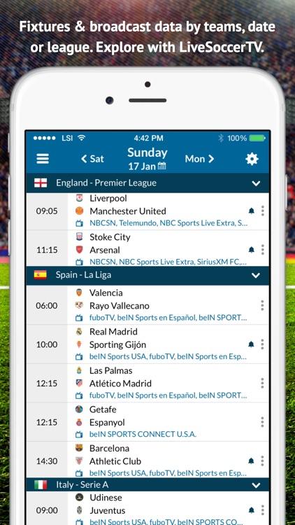 Live Soccer TV: Scores & Stats screenshot-3