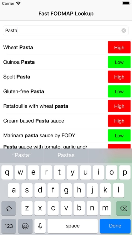 Fast FODMAP Lookup & Learn screenshot-3