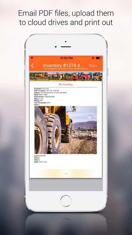 Heavy Equipment Inventory App screenshot-4