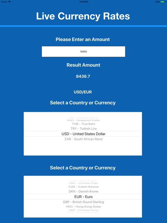Screenshot 1 For Currency Exchange Rates Mgr
