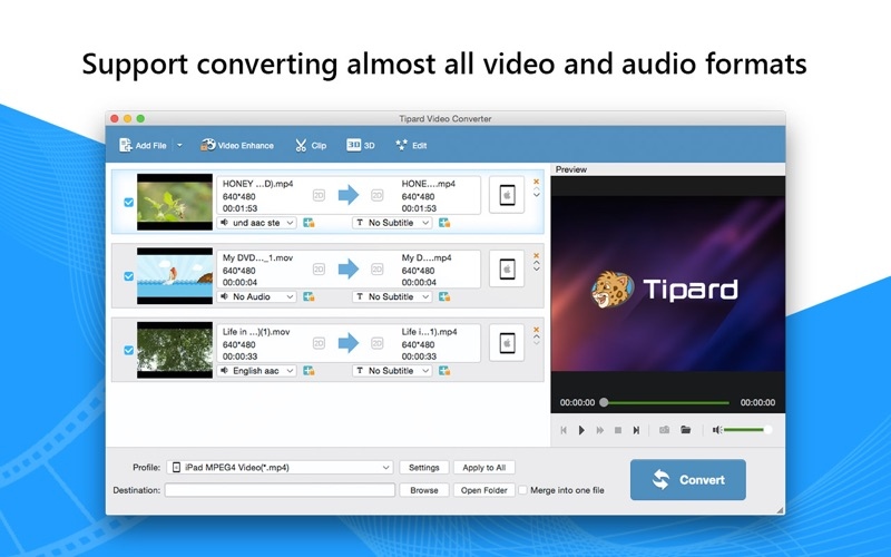 Tipard视频转换器 -视频转MP3/MP4转换器