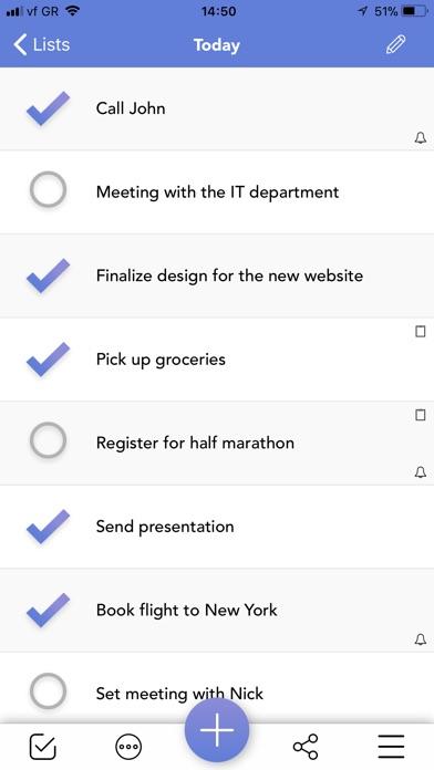 Lists To-do Screenshots