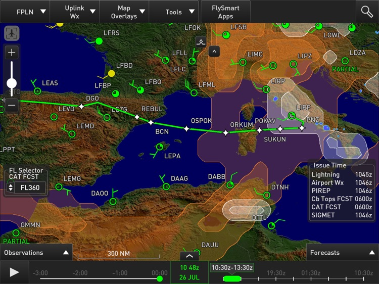 Weather on Board designed for FlySmart with Airbus