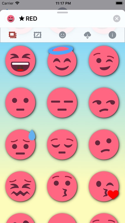 RED Emoji • Stickers screenshot-3