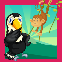 An inter-active Jungle Puzzle Kid-s Game-s For Little Children for Learn-ing