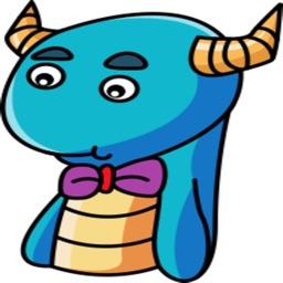 Wheezie - Cute Dragon stickers