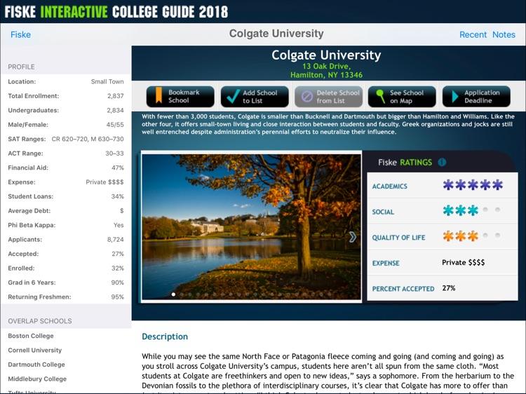 Fiske College Guide 2018 screenshot-3