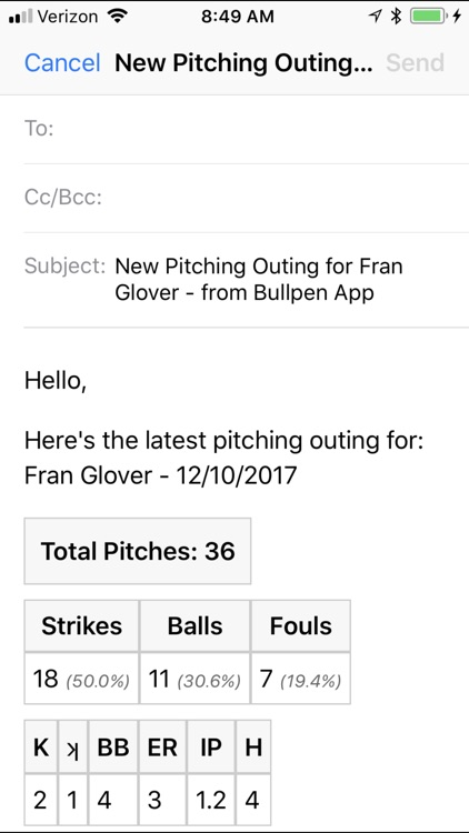 Bullpen Pitch Counter screenshot-3