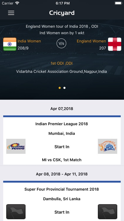 Cricyard - Live Score for IPL