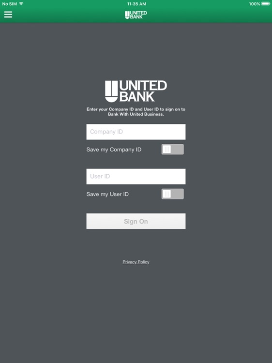 Bank With United Bus. for iPad