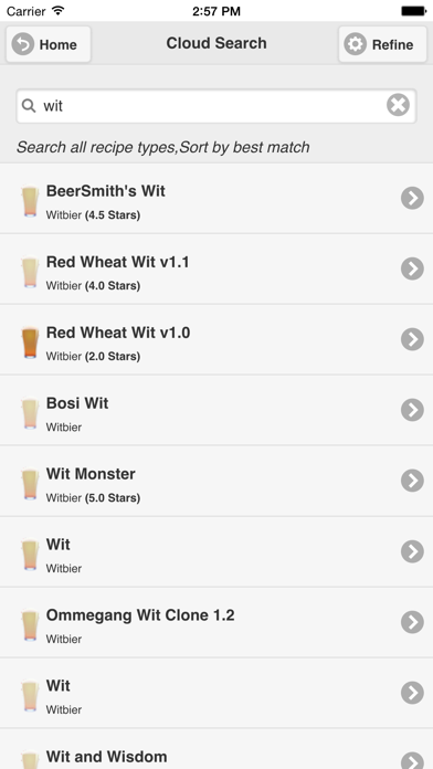 BeerSmith Mobile Home Brewing Screenshot