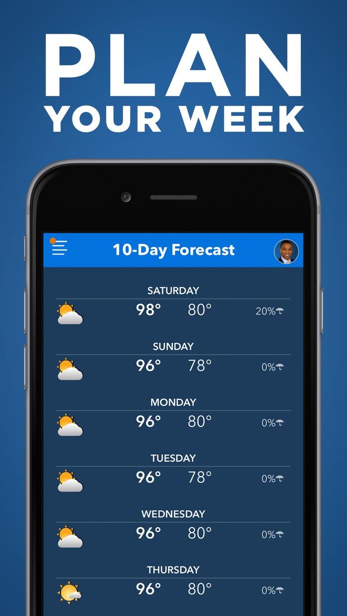Frank's Weather Forecast Screenshot