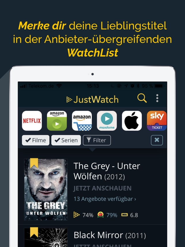 JustWatch - Filme & Serien Screenshot