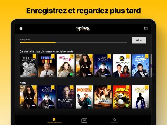 Molotov - TV en direct, replay iPad