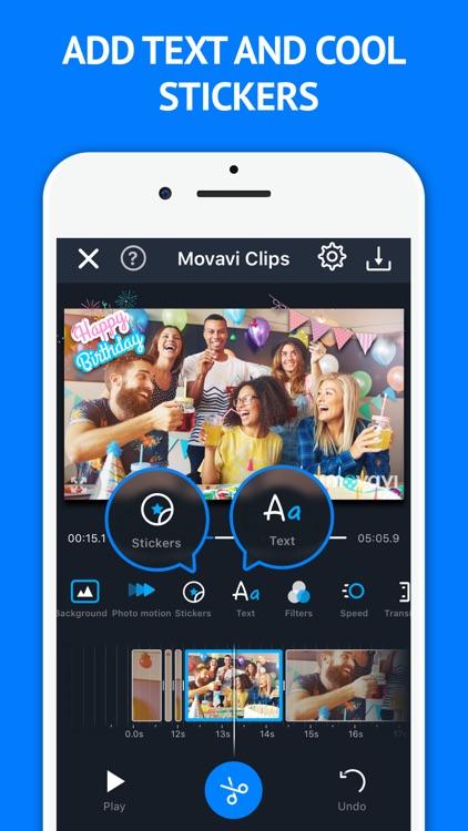 Movie Maker Movavi Clips screenshot-4