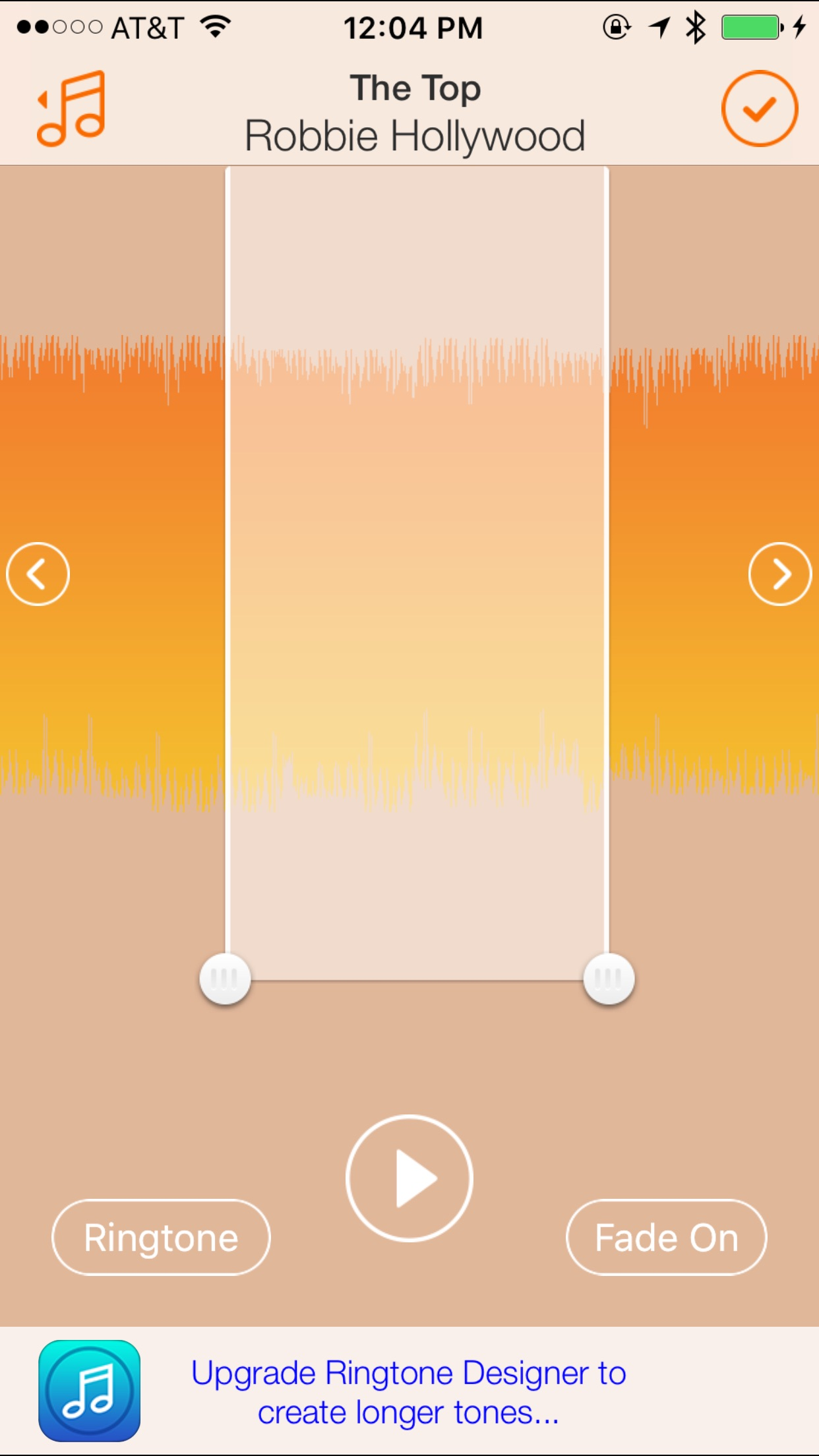 Ringtone Designer 2.0 Screenshot