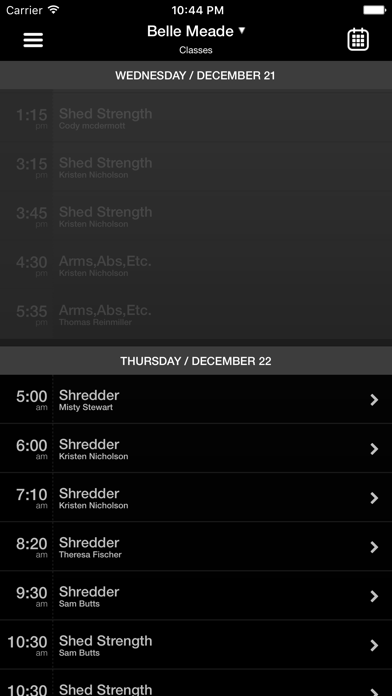 SHED GROUP FITNESS screenshot three